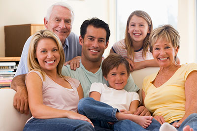 image of family gathered to discuss life insurance