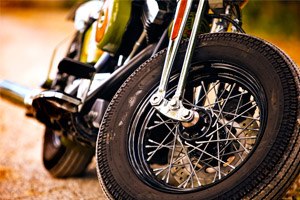 closeup of motorcycle