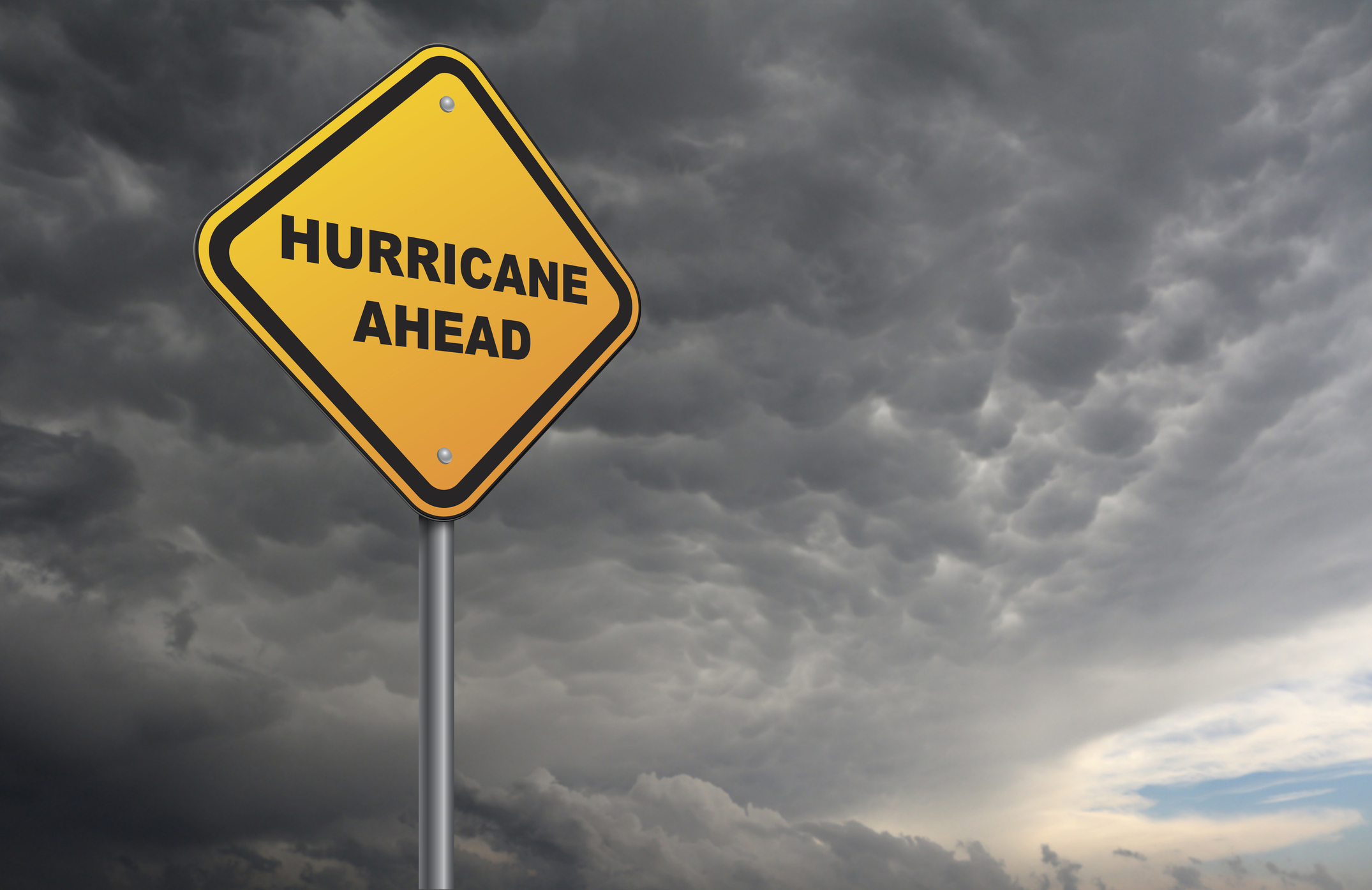 image of hurricane ahead sign