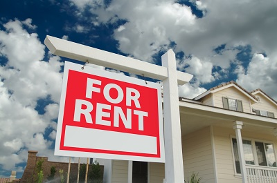 image of for rent sign outside of house